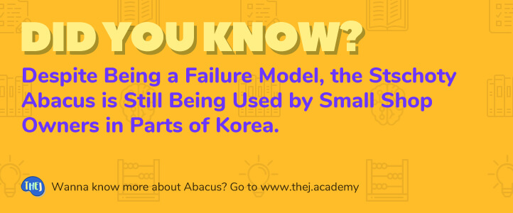 Did you Know? Despite Being a Failure Model, the Stschoty Abacus is Still being Used by Small Shop Owners in Parts of Korea