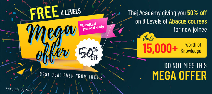 Online abacus classes 50% meta offer