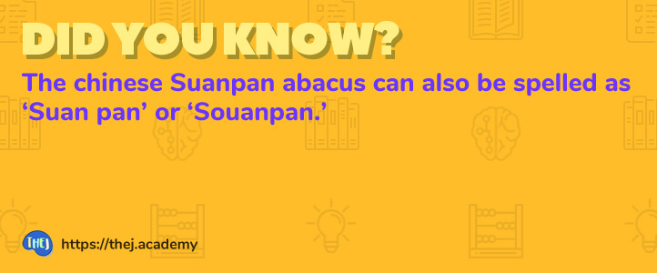 Counting in the Suanpan Abacus - Thej Academy