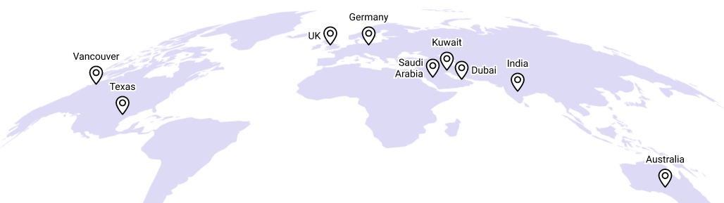 Current batch student location map