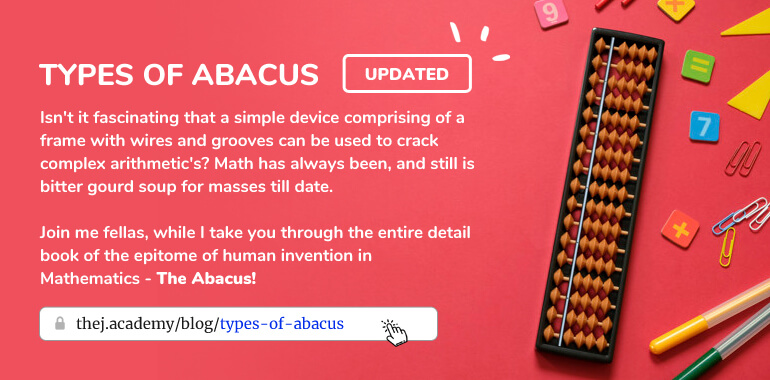 Types of Abacus from Thej Academy