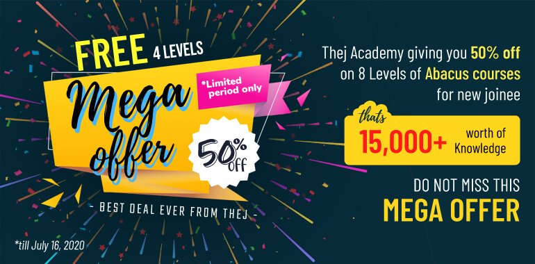 50% offer on Abacus classes for new joiner