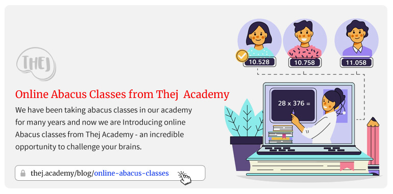 Online abacus classes from Thej Academy