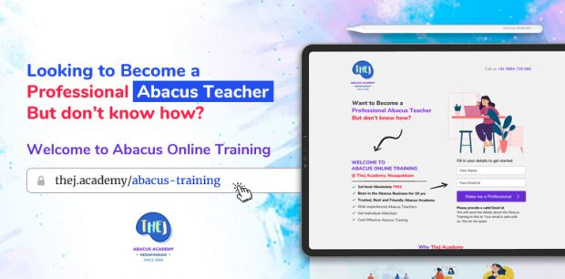 Abacus Online Training from Thej Academy