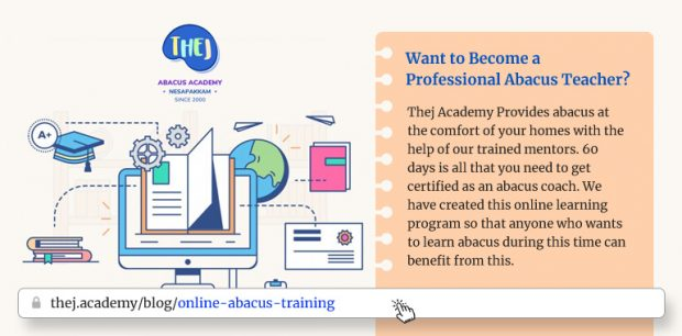 Online Abacus Training for Teachers