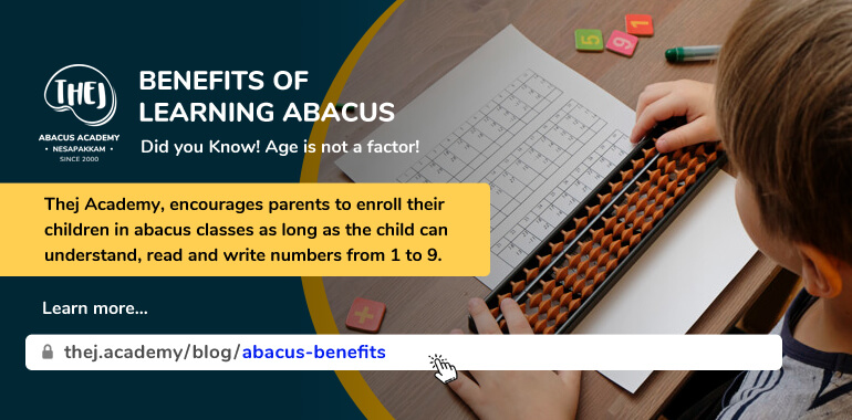 Benefits of Learning Abacus from Thej Academy