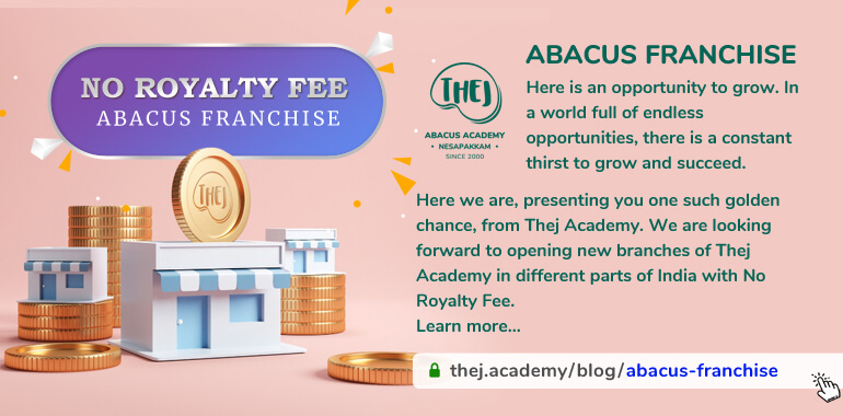 Abacus Franchise with No Royalty Fee from Thej Academy
